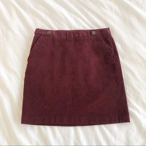 Banana Republic Corduroy Skirt Size 0